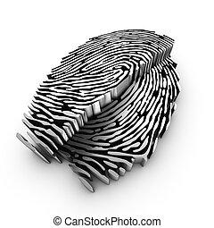 deep 3d fingerprint analysis using cutting plane
