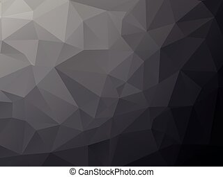 Deep black geometric background