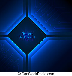 Deep blue abstract background. Vector illustration for your...