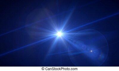 deep blue flare