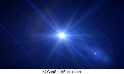 deep blue flare rotate