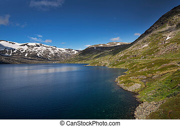 Deep blue lake Djupvatnet in Norway