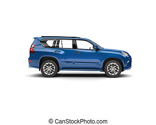 Deep blue modern SUV - side view
