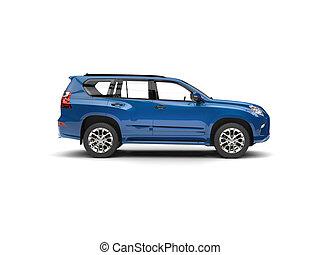 Deep blue modern SUV - side view
