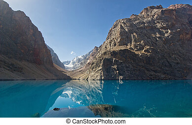 deep blue mountain lake