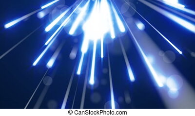 Deep Blue Particle Glowing Background