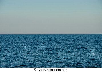 Deep blue sea horizon