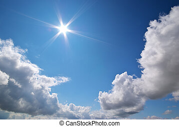 Deep blue sky. Conceptual design.