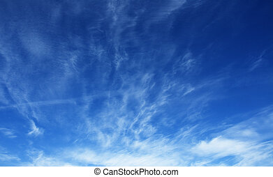 deep blue cloudy sky