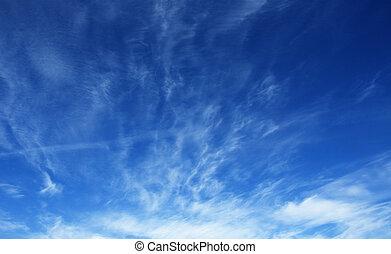 deep blue sky - deep blue cloudy sky