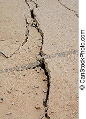 Deep crack in foundation