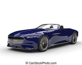 Deep dark blue modern convertible concept car