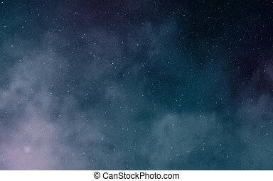 Deep dark space nebulae