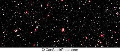 Deep Field  Galaxies, Supernova Core pulsar neutron star. Elements of this image furnished by NASA. Retouched image.