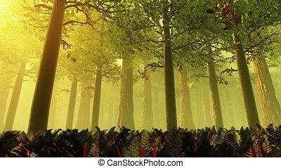 Deep Forest 3 - Deep Forest Fairy Tale Scene Fireflies 3D...