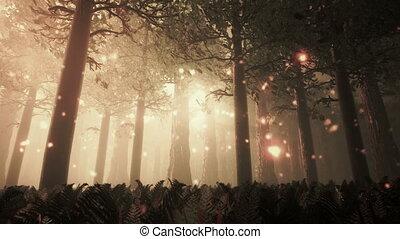 Deep Forest 6 - Deep Forest Fairy Tale Scene Fireflies 3D...