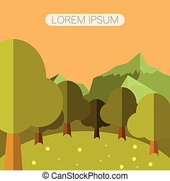 Deep Forest flat background15
