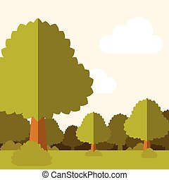 Deep Forest flat background19