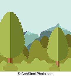 Deep Forest flat background23