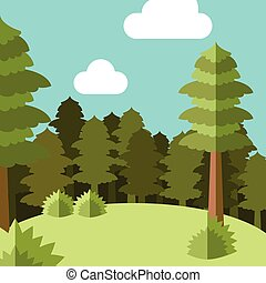 Deep Forest flat background5