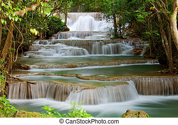 Deep forest Waterfall