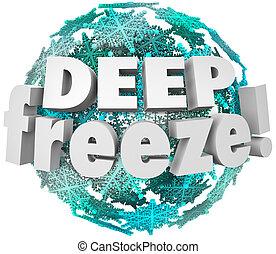 Deep Freeze Winter Weather Blizzard Storm Snowflake Sphere...