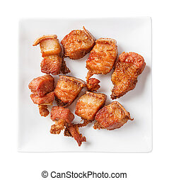 Deep fried streaky pork with herb