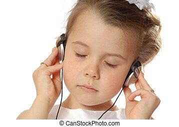 Deep music - girl listening to music