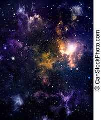deep outer space background with stars