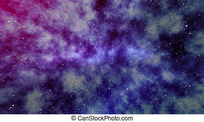 """Deep outer space background with stars and nebula"""