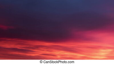 Deep Red to Blue Sky Color Change Sunrise Time Lapse