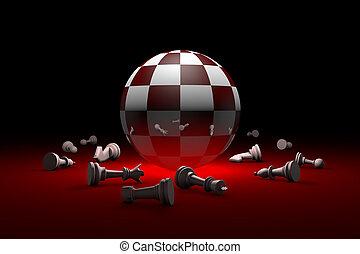 Deep relax (chess metaphor). 3D render illustration. Free...