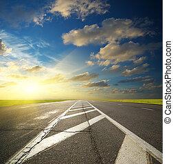 Deep road. Element of dersign.