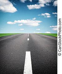 Deep road. Element of design.