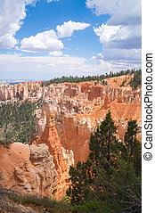 Deep sandstone canyons of Bryce Canyon national Park