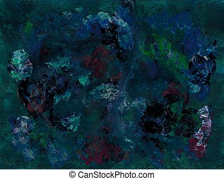 Deep Sea Scape - Abstract Sea Scape in Acrylics