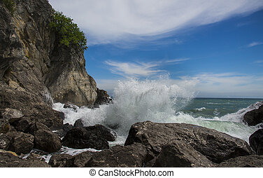 Deep sea water waves, Black sea