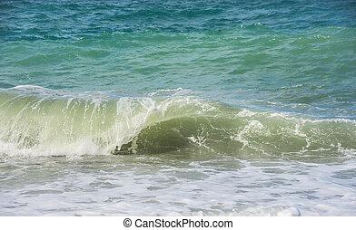 Deep sea water waves