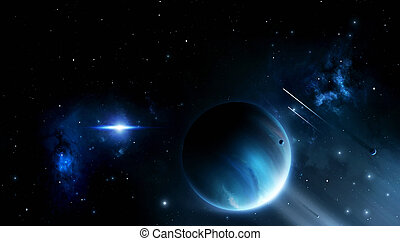 Deep Space Blue Background