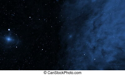 Deep Space, Blue Nebula and Star Fields - Blue nebula and...