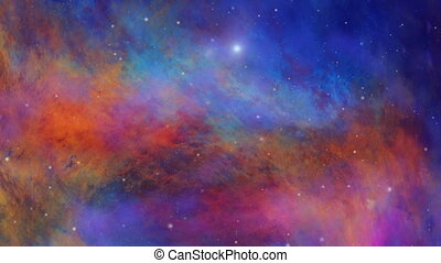 Deep Space, Colorful Nebula and Star Fields - Colorful...