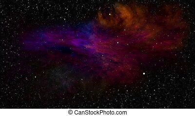 Deep Space, Colorful Nebula and Star Fields