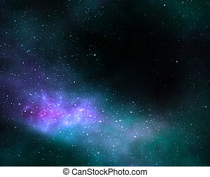 deep space cosmos nebula galaxy - illustration of a deep ...
