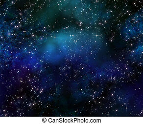 deep space night sky