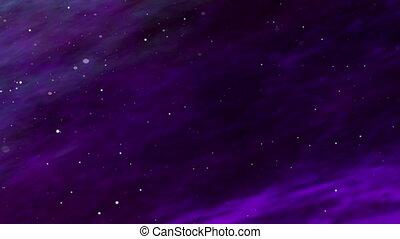Deep Space, Ultra Violet Nebula, Star Fields - Ultra violet...