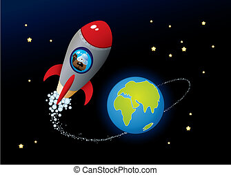 Deep Space. Vector Cartoon Image.