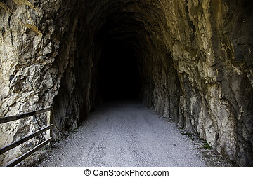Deep stone tunnel