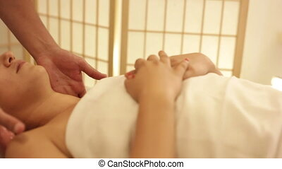 Deep Tissue neck massage - Shot of Deep Tissue neck massage