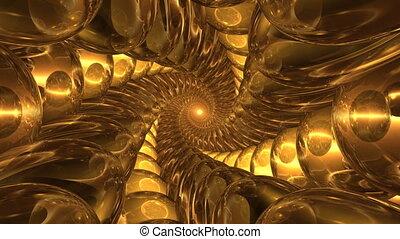 Deep tunnel of glass balls