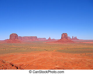 Deep view and clear athmosphere, Monument Valley National Park, United States